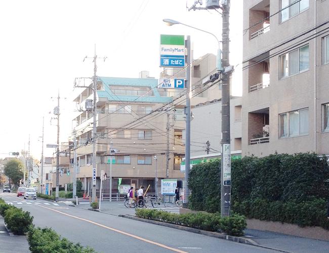上板橋駅から7分ほどの住宅街
