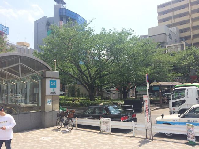 駒込駅前のバス停