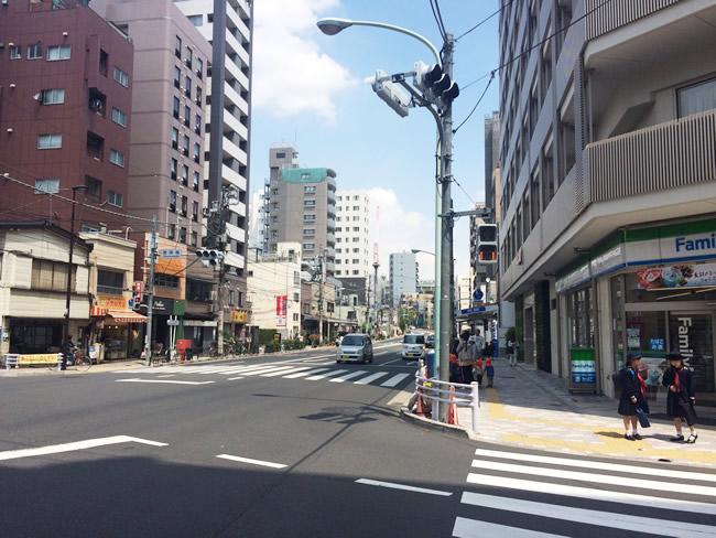 駒込の街並み