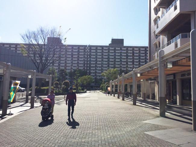 王子神谷駅近くの団地