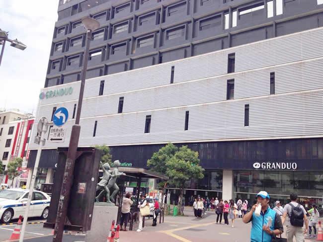蒲田駅を引きで撮影