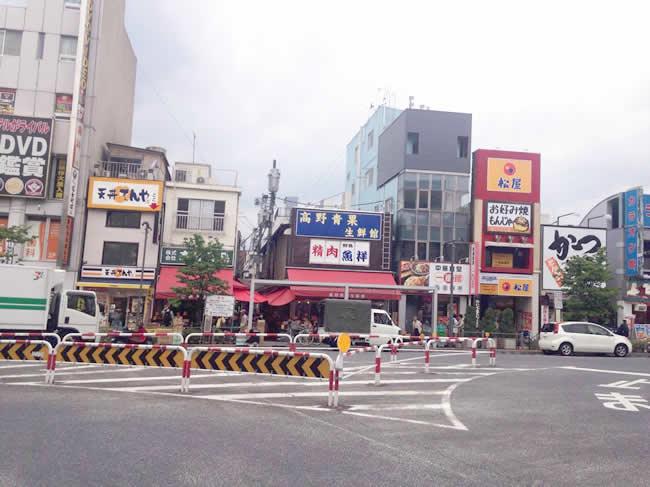 高円寺の駅前周辺