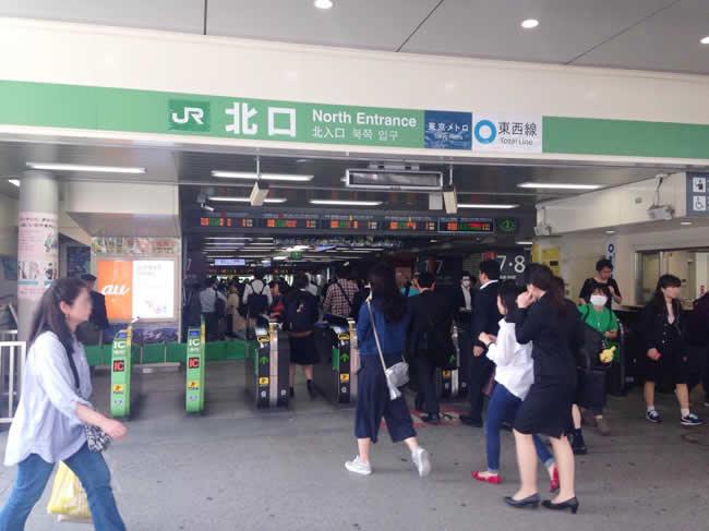 中野駅に到着!
