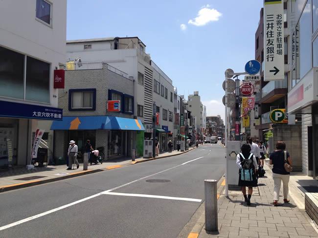 桜新町の街並み