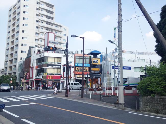大岡山の交差点