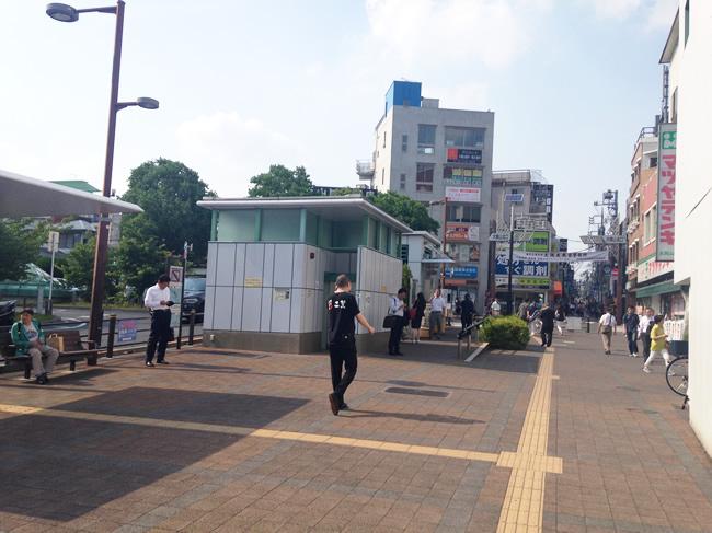 大岡山のバス停