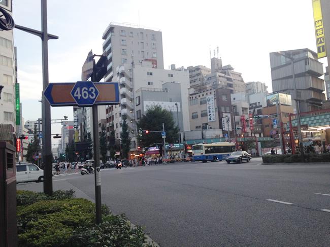 浅草の大通り