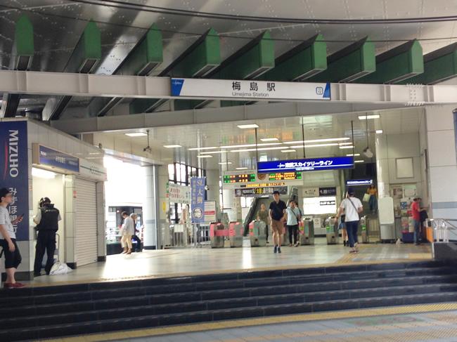 梅島駅ですよー
