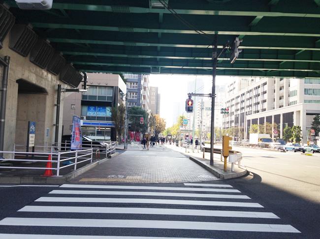 高架下の横断歩道