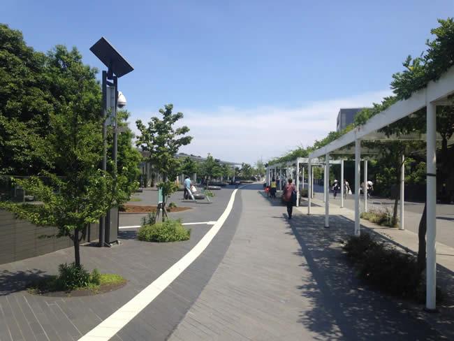 二子玉川の遊歩道