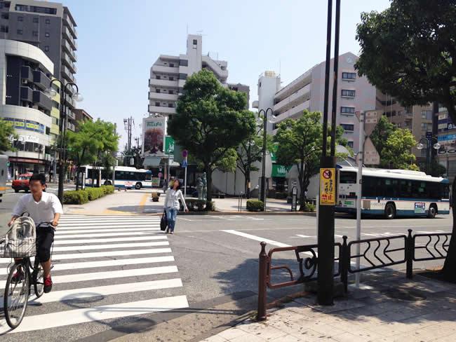 篠崎駅の横断歩道