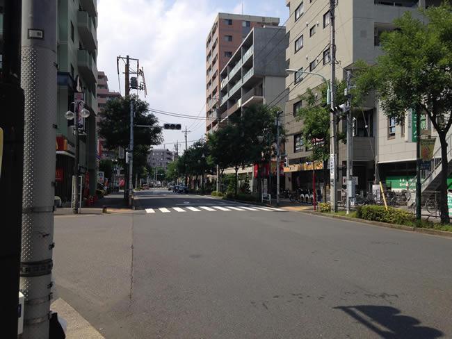 篠崎の交差点