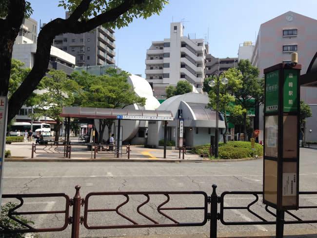 篠崎駅前のバス停