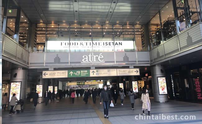 品川駅港南口です。