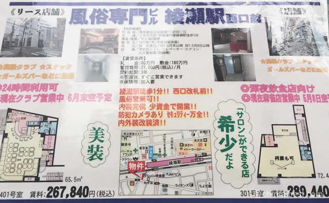 風俗専門ビルの物件情報