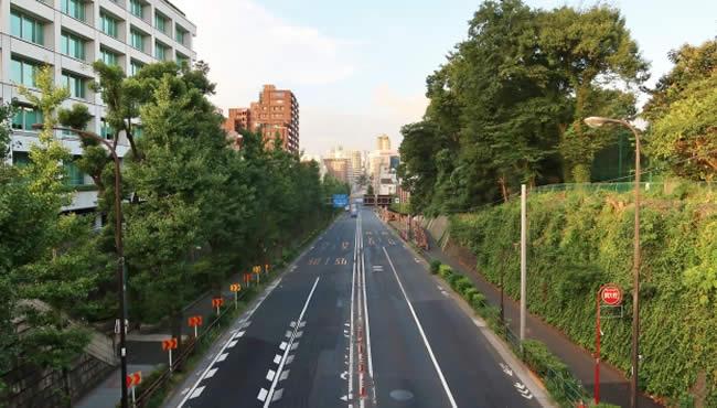 千登世橋から見た街並み