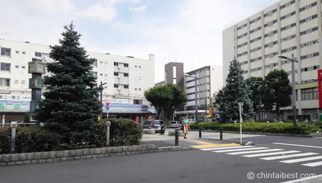 竹ノ塚駅前の団地