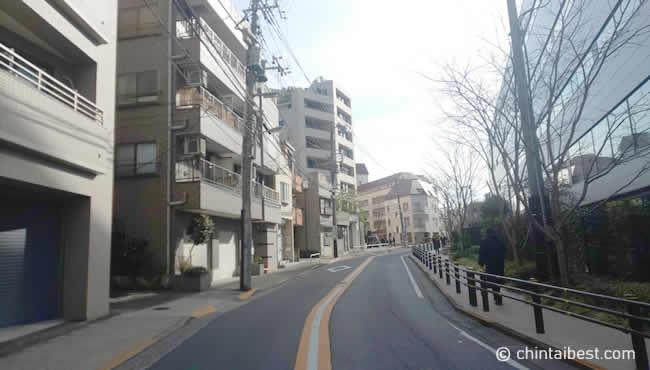 大井町の住宅街