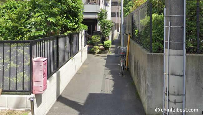 平井2丁目の細い路地